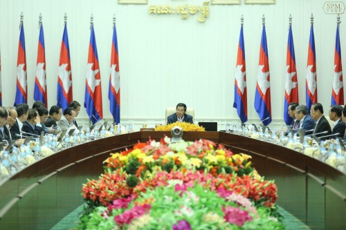 In the morning of 17 February 2017 Samdech Techo Hun Sen chairs a weekly cabinet plenary session at the Peace Palace.