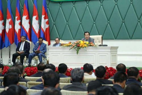 "In the morning of 22 August 2017 Samdech Techo Hun Sen presides over the 2nd National Forum on ""Protection and Conservation of Natural Resourece, at the Peace Palace, Phnom Penh."