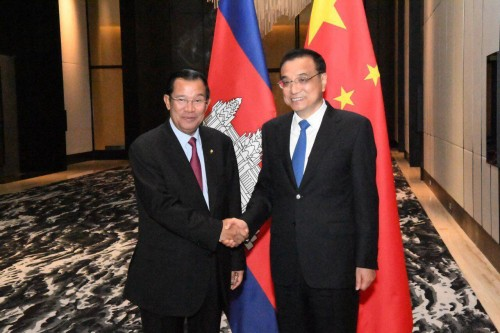 On 13 November 2017, Samdech Techo Hun Sen holds a bilateral talk with H.E. Li Keqiang, the Premier of the People's Republic of China, during their attending of the 31st ASEAN Summit and related meeting in Manila, the Philippines.