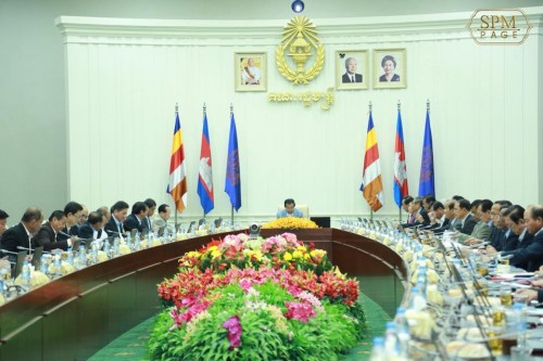In the morning of 11 May 2018, Samdech Techo Hun Sen chairs a planery cabinet meeting at the Peace Palace.
