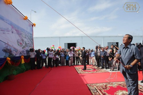 In the morning of 25 June 2018, Samdech Techo Hun Sen inaugurates Sihanoukville Port Multipurpose Terminal, in Sihanoukville, Preah Sihanouk province.
