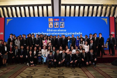 In the evening of 20 January 2019, Samdech Techo Hun Sen holds a get-together with 468 Cambodian students who are pursuing their degree in China.