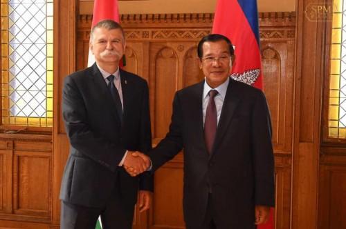 In the morning of 14 June 2019, Samdech Techo Hun Sen holds talks with H.E. Speaker of the National Assembly of Hungary László Kövér.