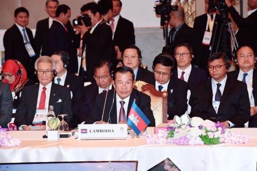 In the aternoon of 22 June 2019, Samdech Techo Hun Sen attends the 34th ASEAN Summit in Bangkok, Thailand.