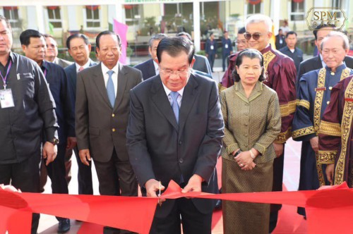 "In the morning of 21 November 2019, Samdech Techo Hun Sen inaugurates the ""Indra Devi"" building of the Royal Academy of Cambodia."