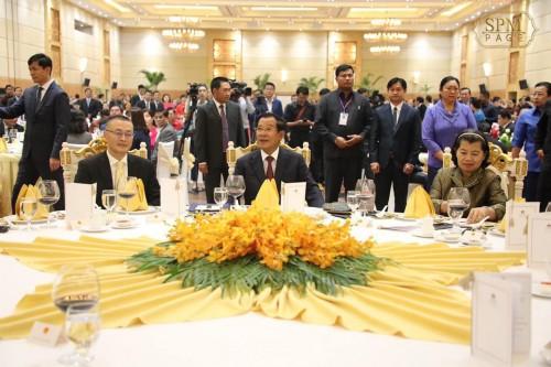 In the evening of 17 January 2020, Samdech Techo Hun Sen presides over the Vietnamese New Year's celebration dinner at Sokha Phnom Penh Hotel.